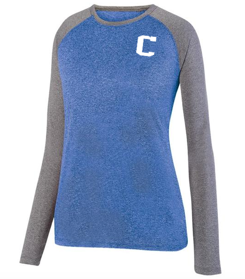 Augusta  Ladies Kinergy Two Color Long Sleeve Rag w/Clan Top