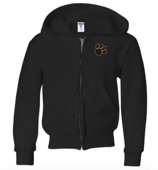 Jerzees Glitter Flake Panthers Fleece Full-Zip Hood
