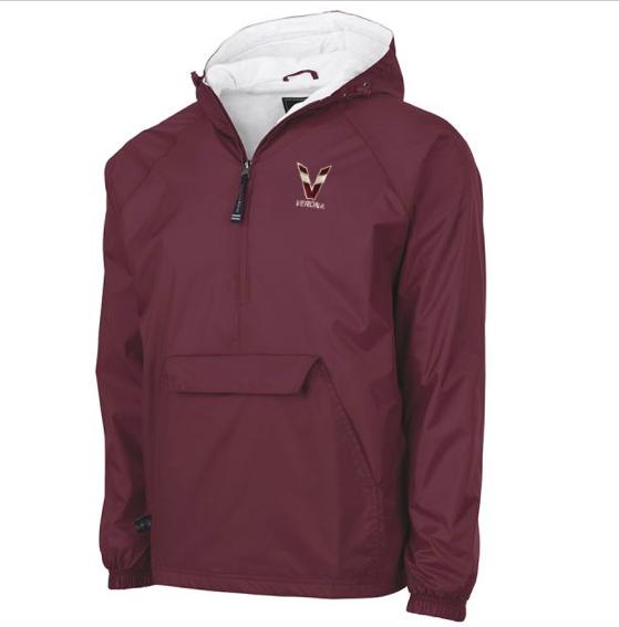 Charles River Tri-Color V Verona Classic Solid Pullover