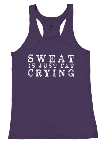 Badger Sweat Is Just Fat Crying Performance Racerback Tank