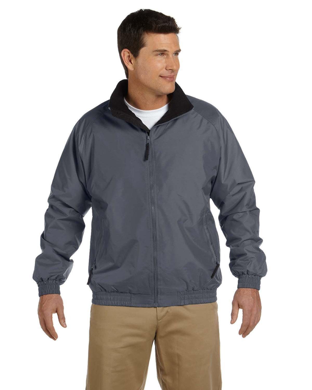 Harriton Fleece-Lined Nylon Jacket