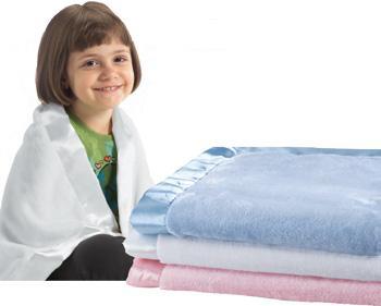 Baby Blanket W/satin trim