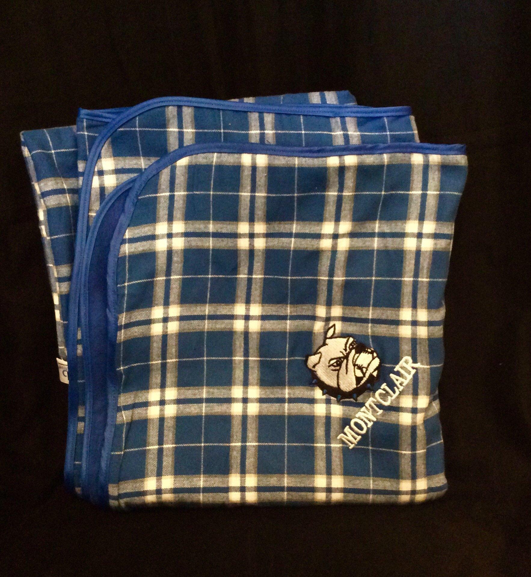 Boxercraft Flannel Blanket- Montclair Bulldogs