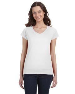 Gildan SoftStyle® Ladies' Junior Fit V-Neck T-Shirt