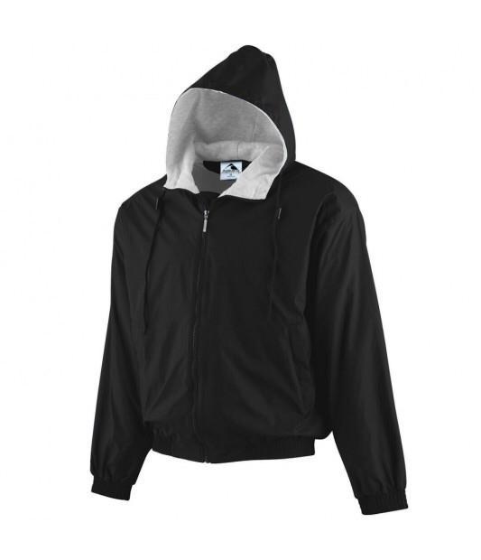 Augusta Hooded Taffeta Jacket/Fleece Lined