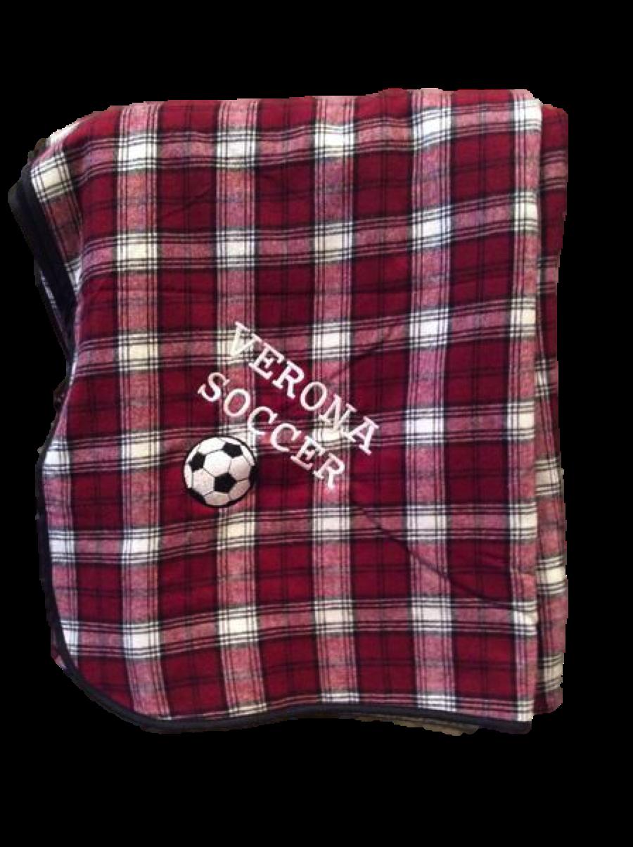 Boxercraft Flannel Blanket-Verona Soccer