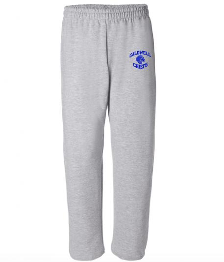 Gildan Caldwell Chiefs Mens Open-Bottom Sweatpants