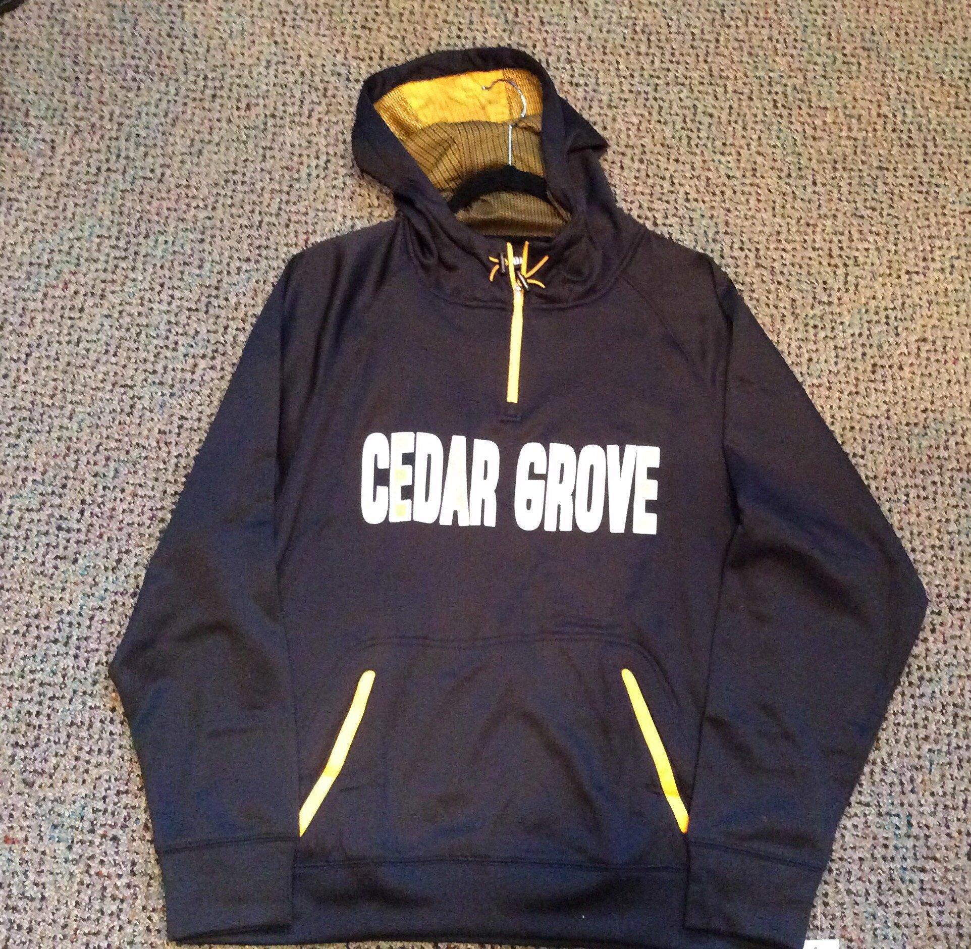 Pennant zip line Cedar Grove hoodie