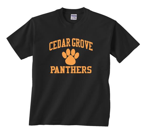 Cedar Grove Paw T-Shirt Gildan