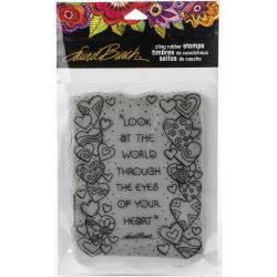 Stampendous Laurel Burch Cling Stamp Heart View