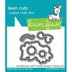 Lawn Cuts Custom Craft Die Winter Dragon
