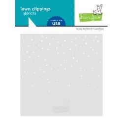 Lawn Clippings Stencils Snowy Sky