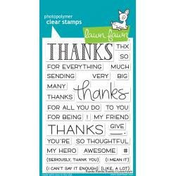 Lawn Fawn Clear Stamps 4X6 Thanks Thanks Thanks