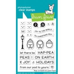 Lawn Fawn Clear Stamps 3X4 Peas On Earth