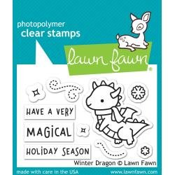 Lawn Fawn Clear Stamps 3X2 Winter Dragon