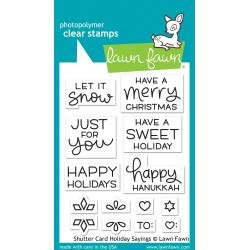 Lawn Fawn Clear Stamps 3X4 Shutter Card Holiday Sayings