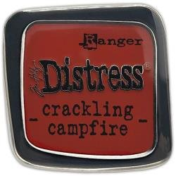 Tim Holtz Distress Enamel Collector Pin Crackling Campfire