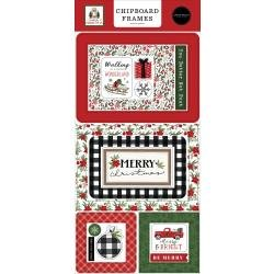 Home For Christmas Chipboard 6X13-Frames