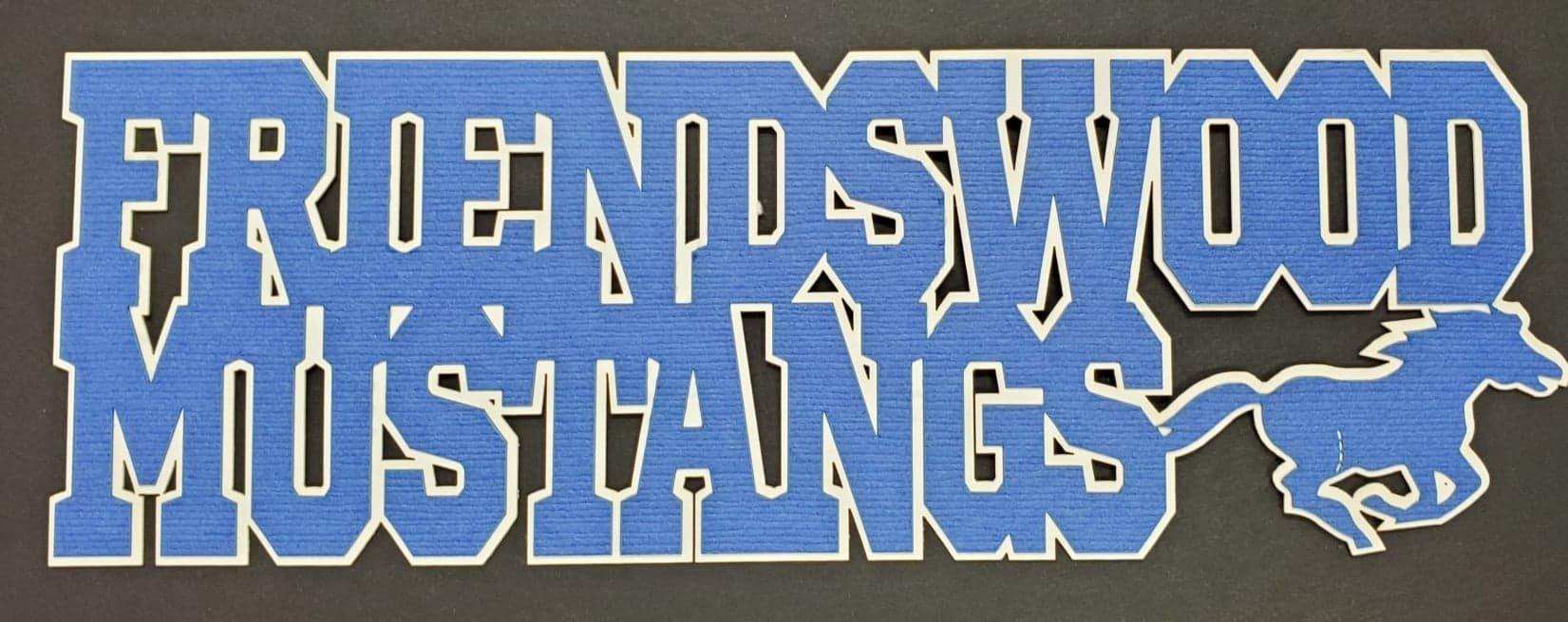 Friendswood Mustangs Title Diecut