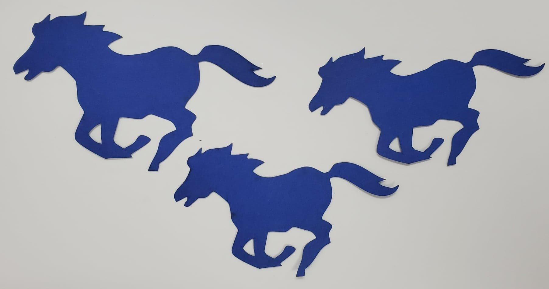Mustangs 3 Pack Diecut