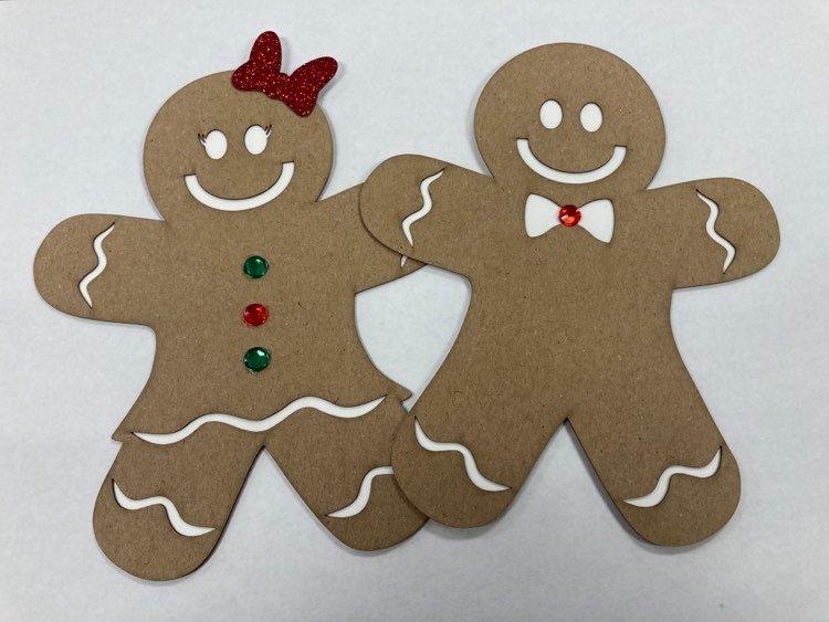 Gingerbread Couple Die Cut