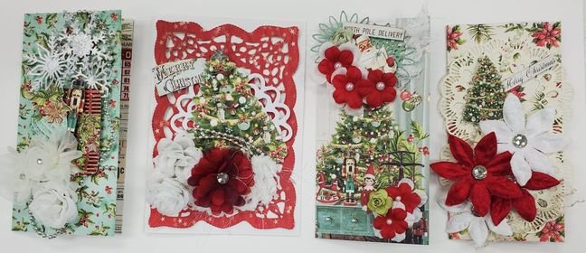 Card Kit - Mintay Merry and Bright - 4 Cards