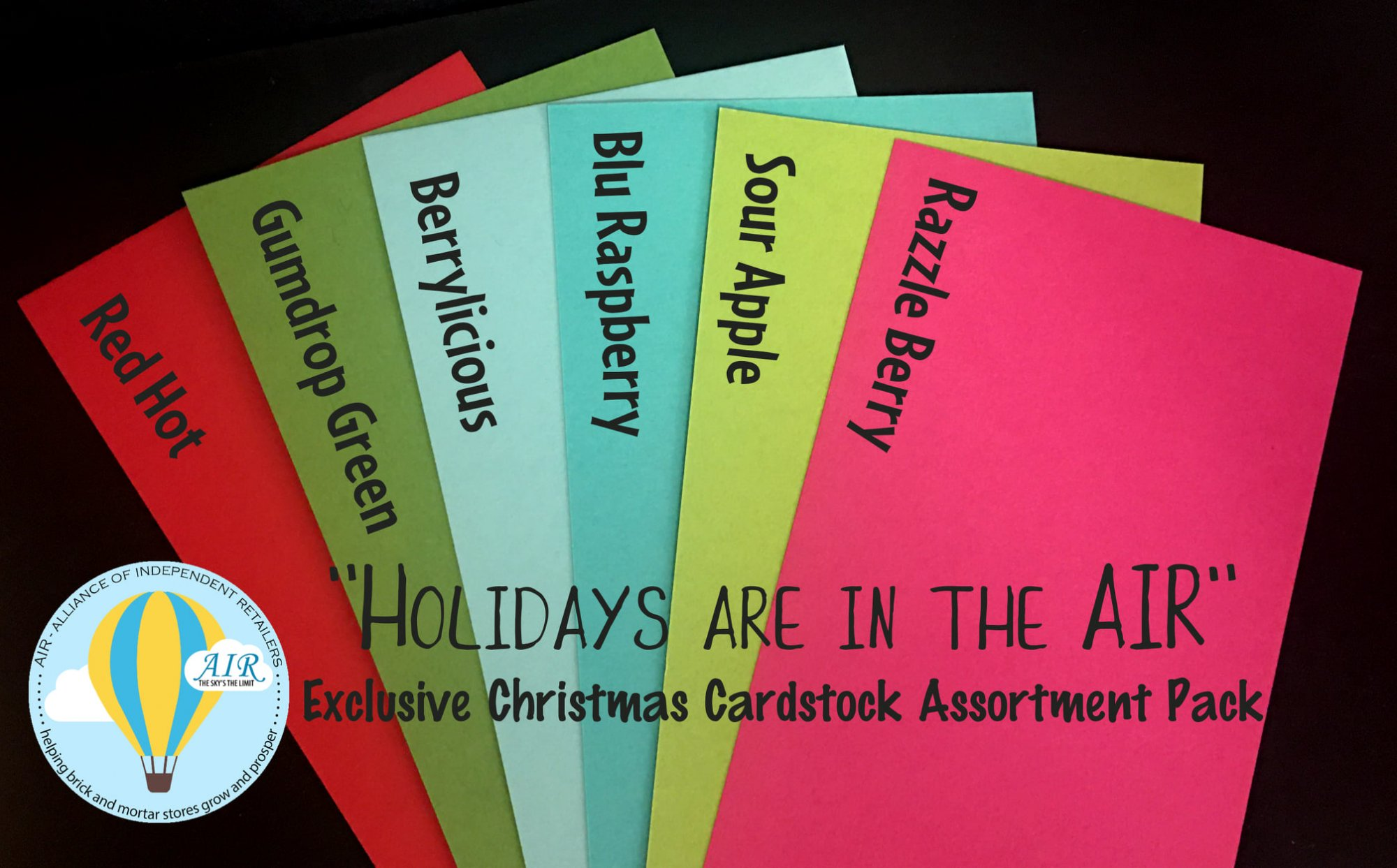Holidays are in the AIR 8.5 x 11 Cardstock Variety Pack