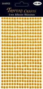 Rhinestone Dot Stickers - 5mm - Orange