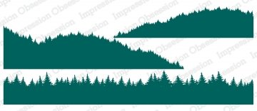 Slim Scenes Stamp - Tree Line Layers