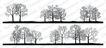Slim Scenes Stamp - Bare Tree Line Duo