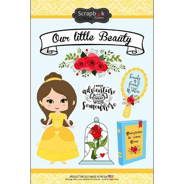 Our Little Beauty - Yellow Princess Sticker Sheet