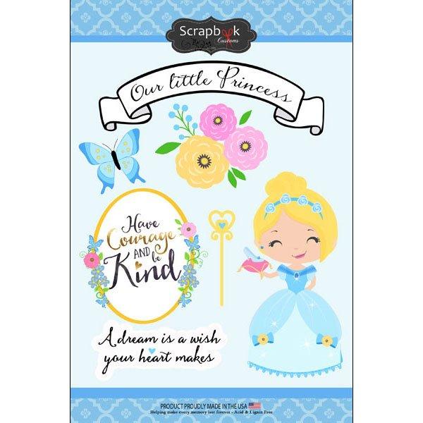 Our Little Princess - Blue Princess Sticker Sheet