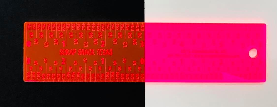 6 Scrap Shack Ruler- PINK