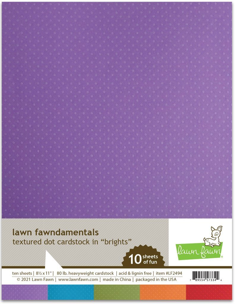Lawn Fawn - Textured Dot Cardstock - Brights