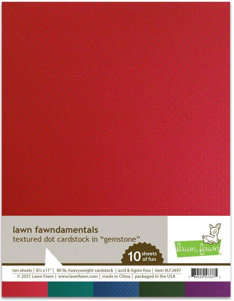 Lawn Fawn - Textured Dot Cardstock - Gemstone