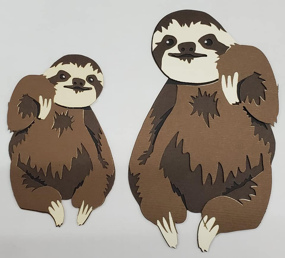 Sloth Mom and Baby Title