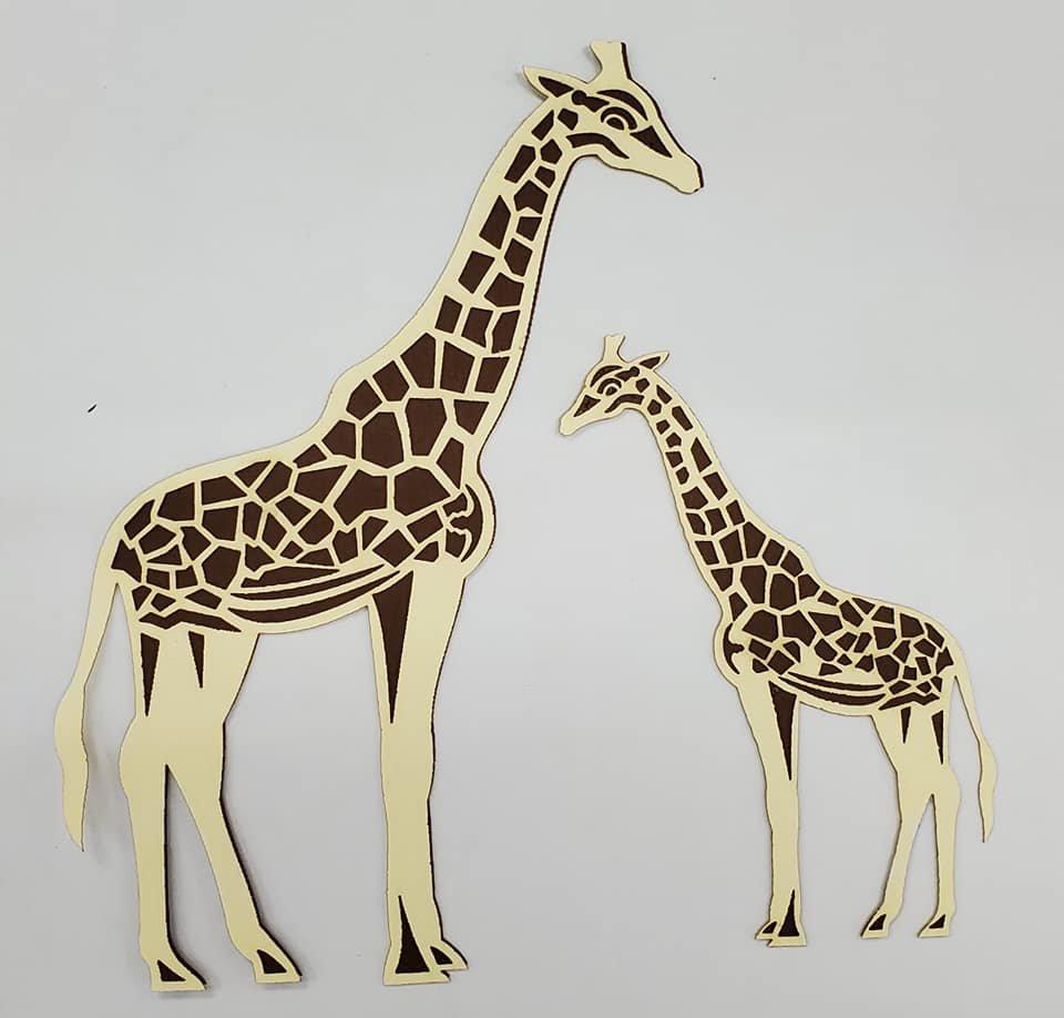Mother/Baby Giraffe Pair Title