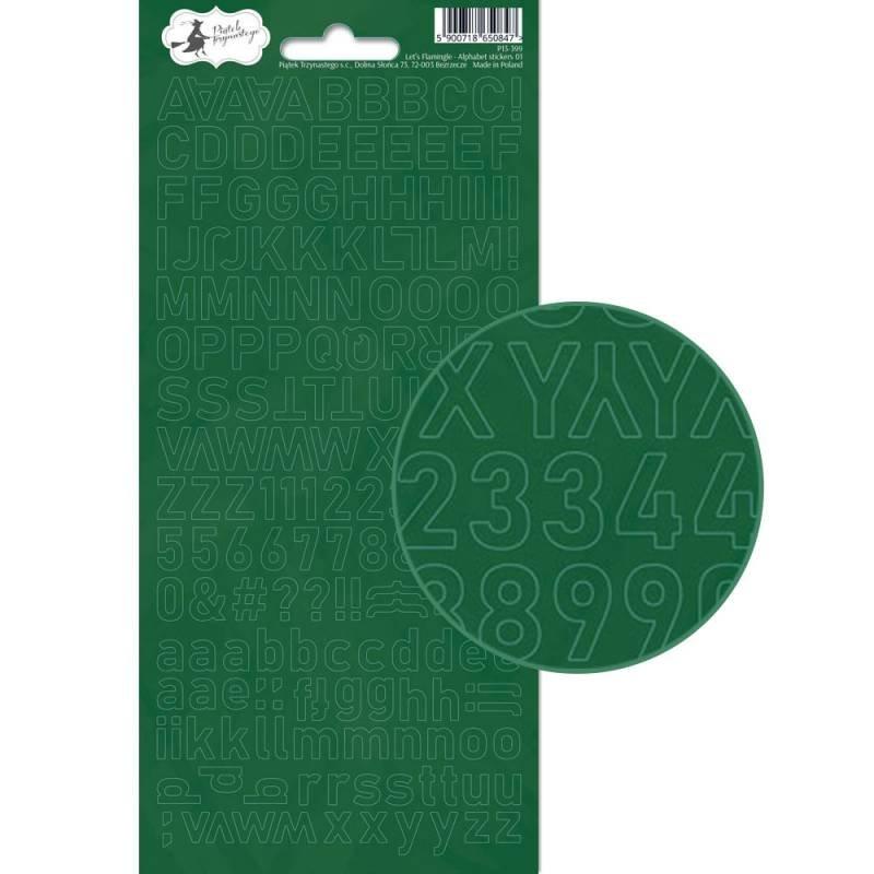 Let's Flamingo Alphabet Stickers Green