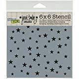 TCW 6X6 Stencil - Mini Random Stars