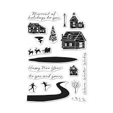 Snowy Town Stamp Set