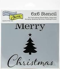 TCW 6X6 Stencil - Merry Tree