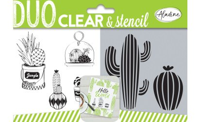 04319 Duo Clear + Stencil Cactus
