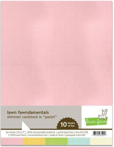 LF2180 Shimmer Pastel Cardstock
