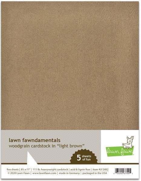 Lawn Fawn Woodgrain Cardstock--light brown