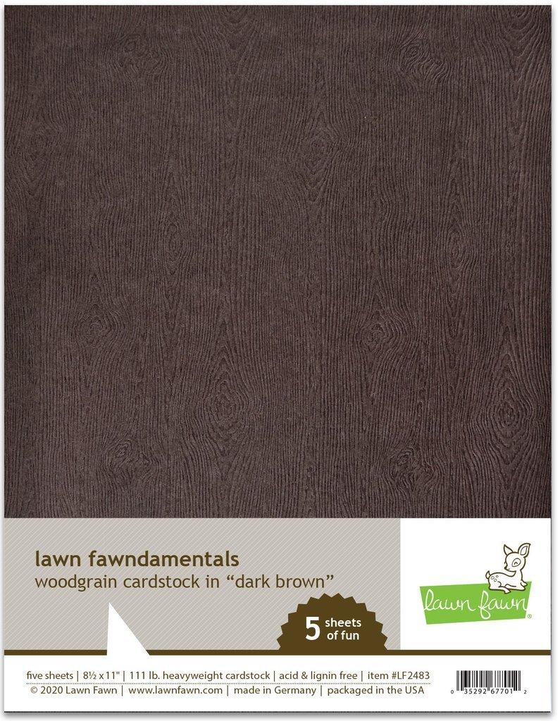 Lawn Fawn Woodgrain Cardstock--dark brown