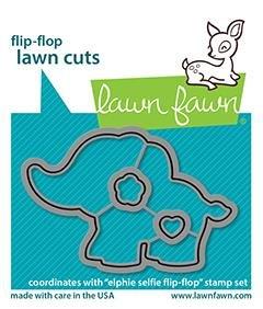 Lawn Fawn - Elphie Selfie Flip Flop - Die