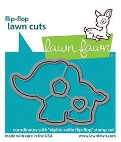 Lawn Fawn - Butterfly Kisses Flip Flop - Die