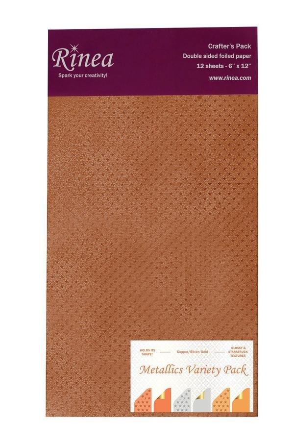 Rinea Foiled Paper Pack - Metallics Variety Pack