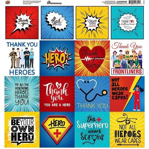 Reminisce - Hero Collection - 12 x 12 Elements Sticker