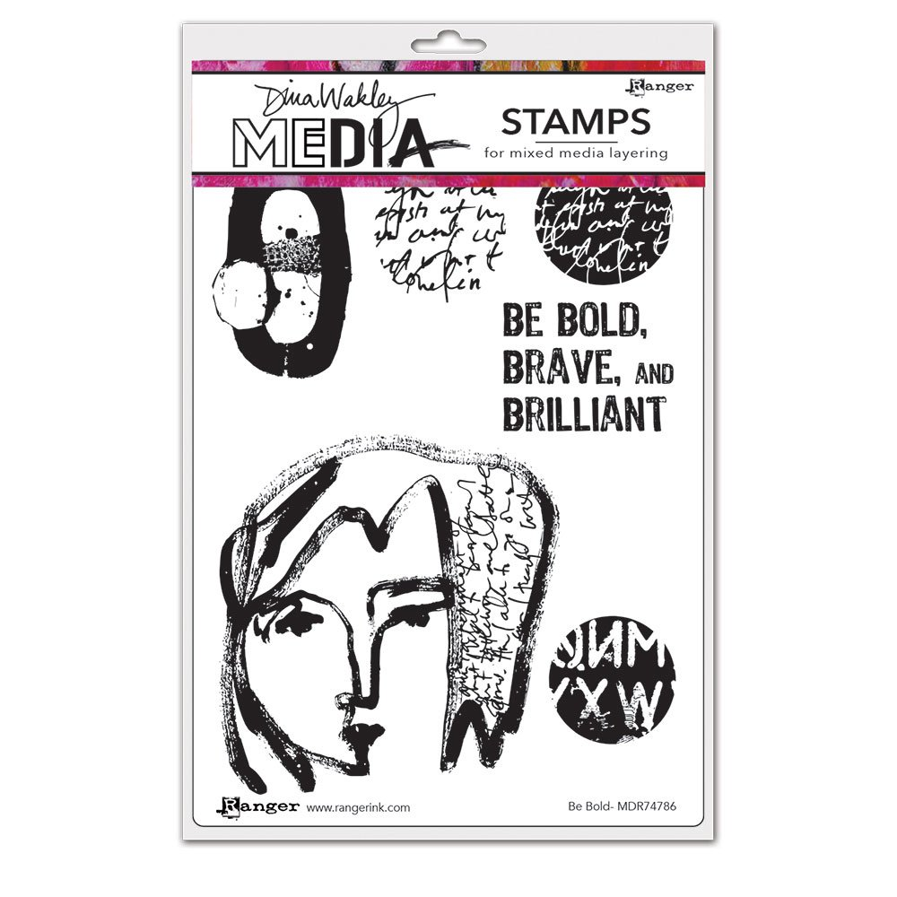 Dina Wakley Media - Cling Mounted Rubber Stamps - Be Bold
